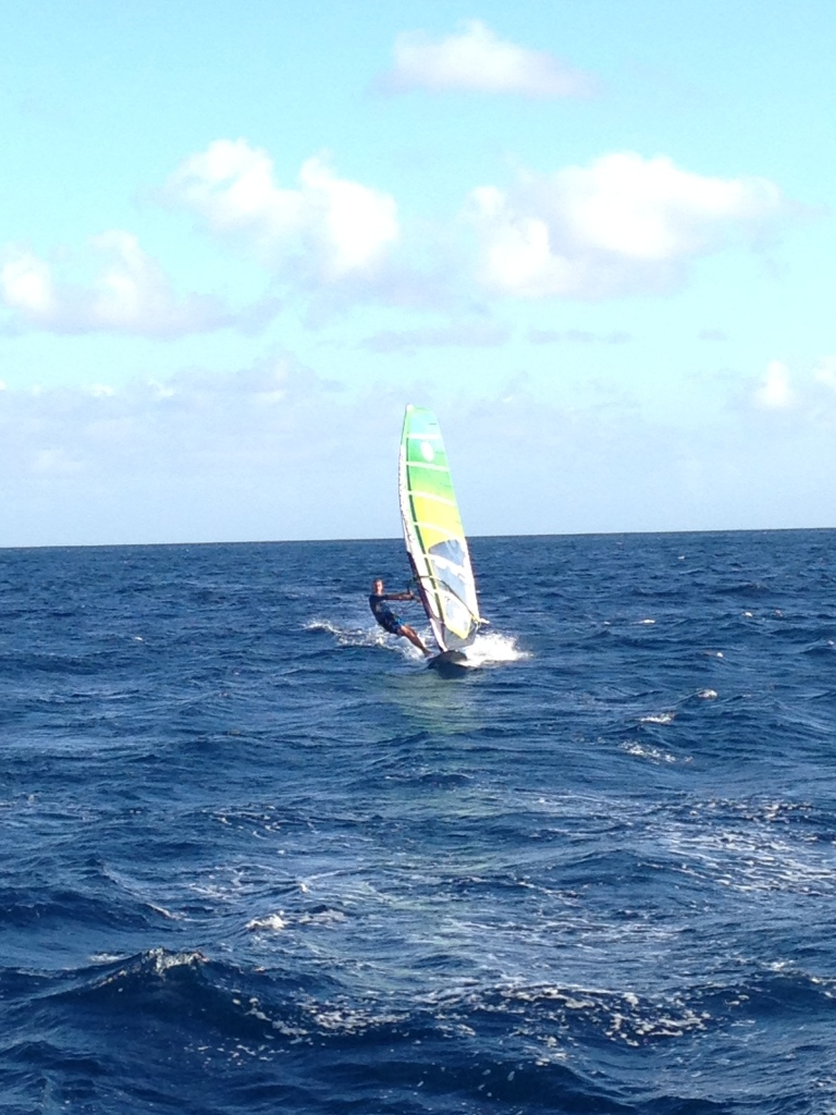 Windsurfer on the west coast of Barbados
