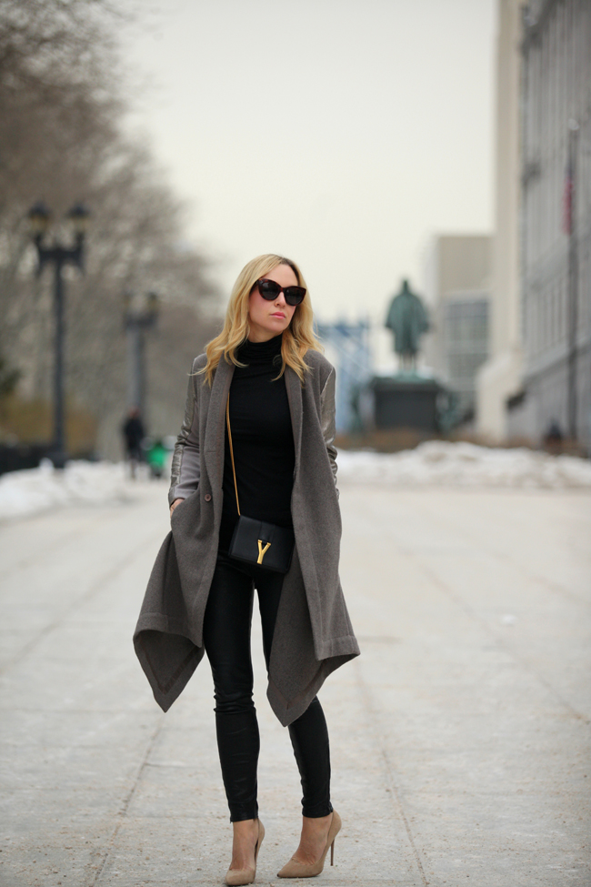 Something like this gorgeous Rick Owens cape coat, as seen on Brooklyn Blonde.
